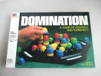 Vintage 80s DOMINATION Strategy Game Complete MB Milton Bradley
