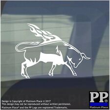 Bull Flame-Vinyl Sticker-Car Window Graphic Decal Sign Animal,Spain,Wings