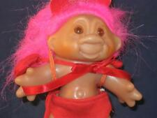 "5"" 1986 DAM TROLL W/MAGENTA HAIRED ""L'IL DEVIL"" RED SHORTS,CAPE & HORNS! w570"