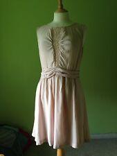 Portmans Pale Peach Nude Lace Sleeveless Cute Girly Kawaii Lolita Dress M 12