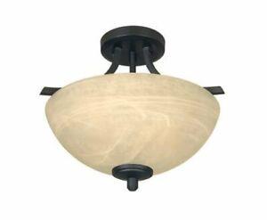 Designers Fountain Tackwood Burnished Bronze Semi-flush Ceiling Light 82911-BNB