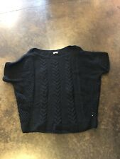 Ryan Roche 4-5 Ply Black Cashmere Different Knits crew 2 M 6-10