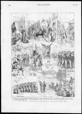 1880-antica stampa FRANCIA manovre militari Sesto ARMY CORPS saussier (074)