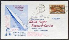 S427) viajes espaciales space eafb 31.8.78 signed John Mance piloto x-24 B cara Body