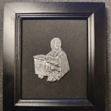 Tin bas-relief,knight, in a frame