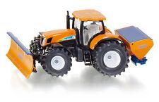 Siku 1 50 tractor Holland T7070 con pala barredora de nieve y Spargi