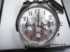 Brooks Brothers Chronograph Watch Stainless Steel Dial Japan NIB