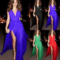 Sexy Formal Side Split Bandage Prom Cocktail Clubwear Evening Chiffon Long Dress