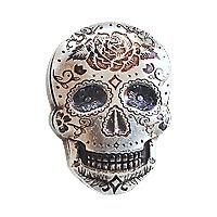 Lot of 5 x 2 oz Monarch Precious Metals Hand Poured Rose Sugar Silver Skull