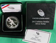 2012 W Infantry Soldier 90% Silver Dollar Proof Commemorative Coin with Box COA