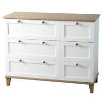 Arcadia White Ash Wooden 3 Drawer Chest Bedroom Cabinet Modern Furniture