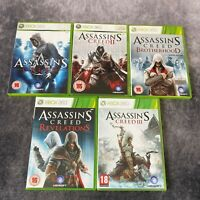 Assassin's Creed I II III + Brotherhood & Revelations Xbox 360 5 Game Bundle