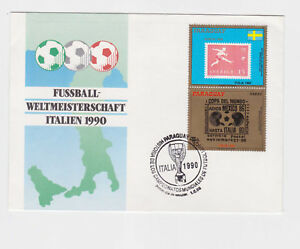 paraguay 1990 world cup,italy on FDC           l424