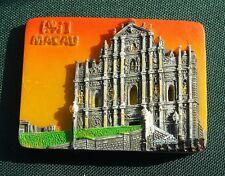Macau Ruínas da Antiga Catedral de São Paulo Travel Souvenir 3D Fridge Magnet