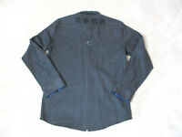 Roar Long Sleeve Button Up Shirt Adult Large Gray Black Embroidered Club Wear