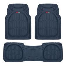 Cobalt Blue Deep Dish Rubber Car Floor Mats For Auto 3pc All Weather Liners Fits 2003 Honda Pilot