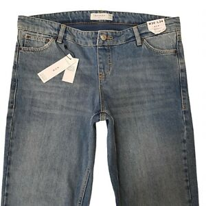 Topshop Mom Womens Maternity Jeans Blue W30 L34 Cotton Tapered Leg High Waisted
