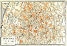 BOLOGNA città piano. ITALIA 1953 Vecchio Vintage Mappa Grafico