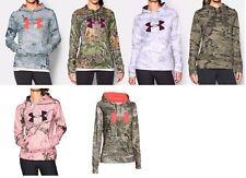 New Womens Under Armour UA Fleece Camo Big Logo Hoodie Retail $75