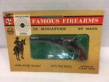 Vintage 1960'S Marx Miniature Famous Firearms Civil War Pistol New Sealed!