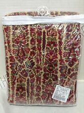 Pottery Barn Larson Paisley Bed Duvet Cover Victorian Floral Linen Twin Red