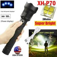 US 350000 Lumens Zoom XH-P70 LED  USB Rechargeable Torch Flashlight Super Bright