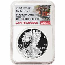 Presale - 2020-S Proof $1 American Silver Eagle NGC PF70UC FDI Trolley Label
