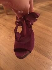 Ladies Heeled Shoes Size 4 With Glitter Heel