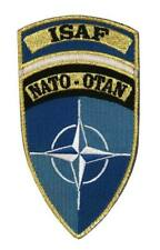 PATCH PARCHE ORIGINAL NATO OTAN ISAF AFGHANISTAN AZUL DOBLE VELCRO