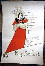 May Belfort Henri de Toulouse-Lautrec Vintage Lithograph Poster