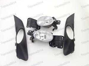Car Lamp Kits Fog Light w/Cover Bezel Set For Honda Accord Crosstour 2010-2012
