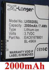 Batterie 2000mAh type BL-49KH EAC61678801 Pour LG VS920