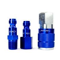 Legacy A72452C-BG Tru-Flate-Automotive Quick Coupler/Plug Kit - Blue