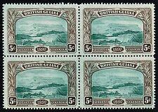 British Guiana 1898 5c. Mount Roraima, MNH block of four (SG#219)