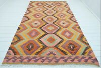 """Anatolia Barak Nomads Kilim, Wool Rug,Floor Kelim,Handmade Rugs 69""""x116"""" Carpet"""