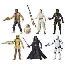 Star Wars VII The Black Series 6-Inch Action Figures Wave 3 Set of 6, Hasbro