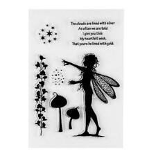 Creative DIY Wing Girl Pattern Transparent Clear Seal Scrapbooking Photo Card