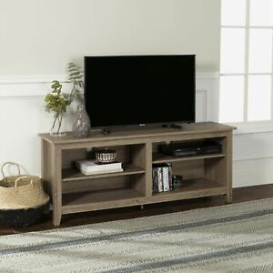 """Walker Edison Wood TV Media Storage Stand for TVs up to 64"""" - Driftwood"""