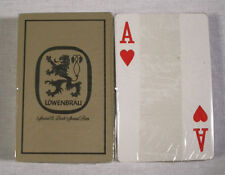 Vintage 1970's Lowenbrau Beer Gold Playing Cards Deck