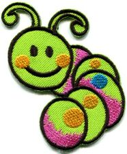 Caterpillar worm insect bug retro kids embroidered applique iron-on patch S-187