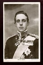 Royalty The King of Spain in uniform with medals 1906 RP PPC