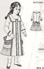 "10-11""Antique French Jumeau Doll@1880's Sq.Neck Coat-Dress Pattern German Child"