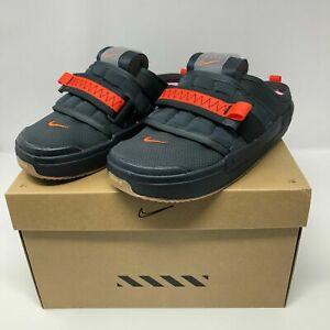 Nike Offline N354 Slip On Sandals Anthracite Orange CJ0693-003 Men's Size 8