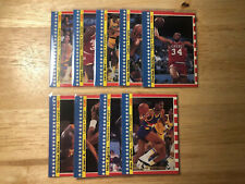 1987 Fleer Stickers 9/11 Magic Johnson, Larry Bird NM-MT