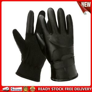PU Leather Fleece Gloves Splicing Color Touch Screen Driving Gloves (Men)