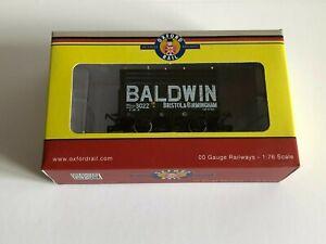 Oxford Rail OO 1/76 4mm 7 Plank Mineral Wagon Coke Baldwin 3022 Black 3 Rails