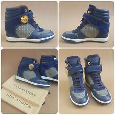 Louis Vuitton Suede Calfskin Hidden Wedge High Top Trainers Sneakers 36.5 /UK3.5