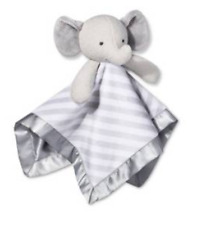 NWT Cloud Island Elephant Security Blanket Gray White Stripes Baby Lovey Toy