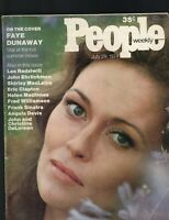 People Magazine July 29 1974 Faye Dunaway John DeLorean Eric Clapton