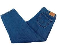LEVI'S 550 Relaxed Fit Straight Leg Blue Denim Jeans Men's Size W 42 L 30